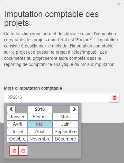Imputation comptable des projets