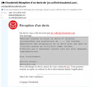 Mail d'information dématérialisation